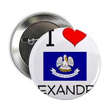"I Love ALEXANDRIA Louisiana 2.25"" Button"