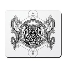 Tiger and Twin Dragons Mousepad