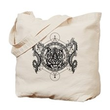Tiger and Twin Dragons Tote Bag