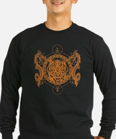 Tiger and Twin Dragons Long Sleeve T-Shirt