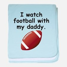 Football With Daddy baby blanket