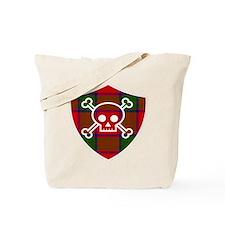 Robertson Tartan Skull And Bones Shield Tote Bag