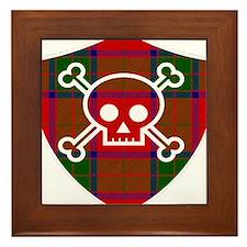 Robertson Tartan Skull And Bones Shield Framed Til