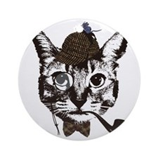 Shercat Holmes Round Ornament