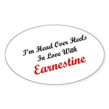 In Love with Earnestine Oval Decal