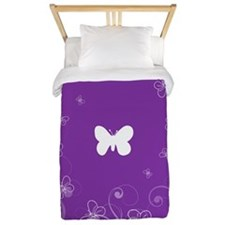 Floral Swirly Butterflies Twin Duvet