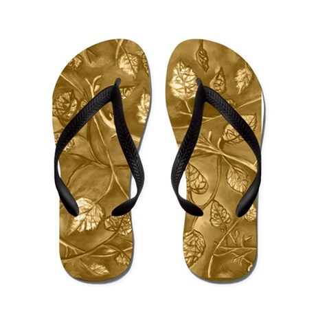 tan undulating leaves fall flip flops by kristiehublerscafepressfallleaves. Black Bedroom Furniture Sets. Home Design Ideas