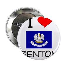 """I Love BENTON Louisiana 2.25"""" Button"""