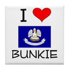 I Love BUNKIE Louisiana Tile Coaster