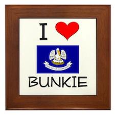 I Love BUNKIE Louisiana Framed Tile