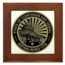 State of Confusion Seal Framed Tile