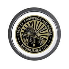 State of Confusion Seal Wall Clock