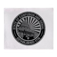 State of Confusion Seal Throw Blanket