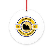 Maltese Walker Ornament (Round)