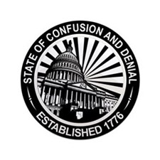 """State of Confusion Seal 3.5"""" Button"""