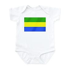 Flag of Gabon Infant Bodysuit