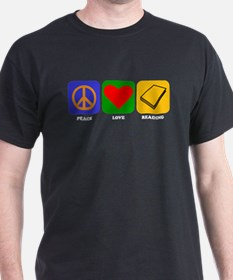 Peace Love Reading T-Shirt