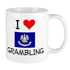 I Love GRAMBLING Louisiana Mugs