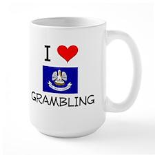 I Love GRAMBLING Louisiana Mugs