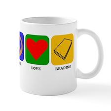 Peace Love Reading Mugs
