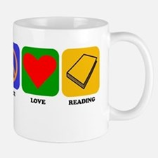 Peace Love Reading Mugs