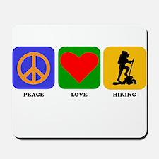 Peace Love Hiking Mousepad