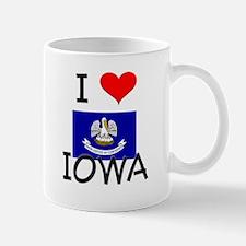 I Love IOWA Louisiana Mugs