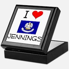 I Love JENNINGS Louisiana Keepsake Box