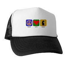 Peace Love Chess Trucker Hat