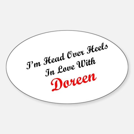 In Love with Doreen Oval Decal