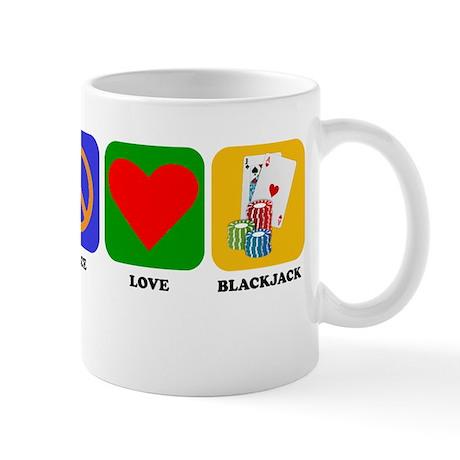 Peace Love Blackjack Mugs