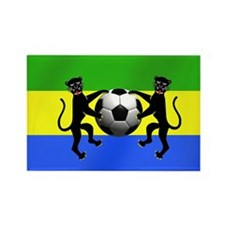 Gabonese Football Flag Rectangle Magnet