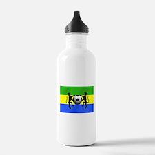 Gabonese Football Flag Water Bottle