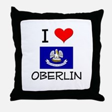 I Love OBERLIN Louisiana Throw Pillow