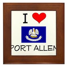 I Love PORT ALLEN Louisiana Framed Tile