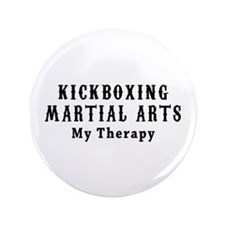 """Kickboxing Martial Art My Therapy 3.5"""" Button"""