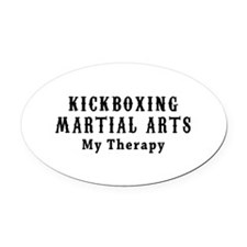 Kickboxing Martial Art My Therapy Oval Car Magnet