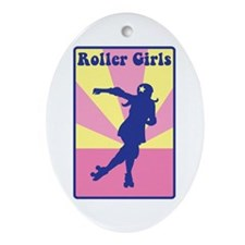 Roller Girls Ornament (Oval)