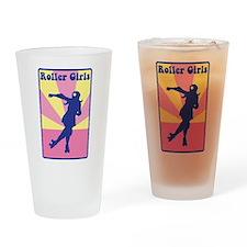 Roller Girls Drinking Glass