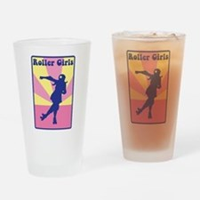 Roller Girls Drinking Glass
