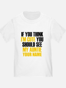Custom My Cute Auntie T-Shirt