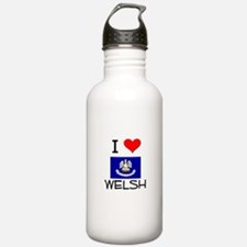 I Love WELSH Louisiana Water Bottle