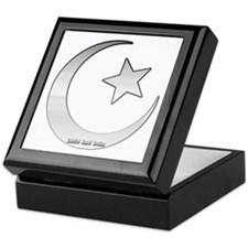Silver Star and Crescent Keepsake Box
