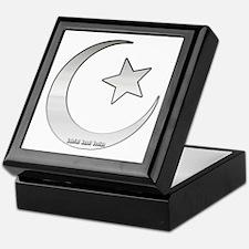 Silver Star and Crescent Keepsake Box