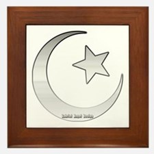 Silver Star and Crescent Framed Tile