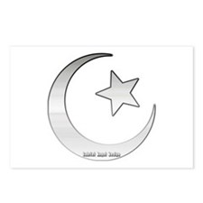 Silver Star and Crescent Postcards (Package of 8)