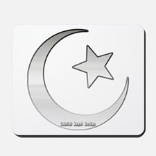 Silver Star and Crescent Mousepad