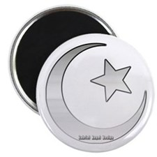 Silver Star and Crescent Magnet