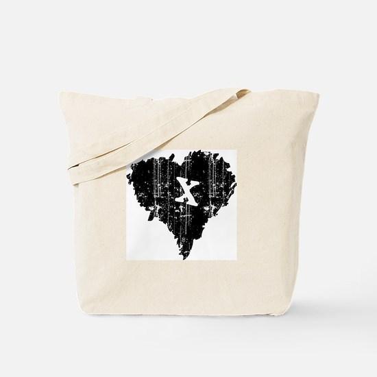 BLACK HEART ANTI-VALENTINE Tote Bag