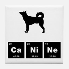 Canaan Dog Tile Coaster
